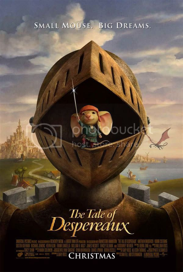 The tale of Despereaux Official Poster