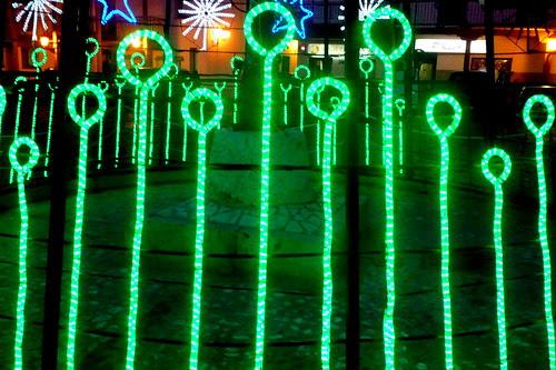La Plaza del pueblo por Navidad