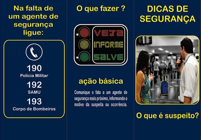Campanha contra terrorismo Rio 2016 (Foto: Divulgação)