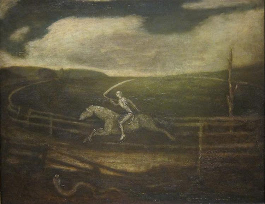 The Race Track (Death on a Pale Horse), 1900 - Albert Pinkham Ryder - WikiArt.org