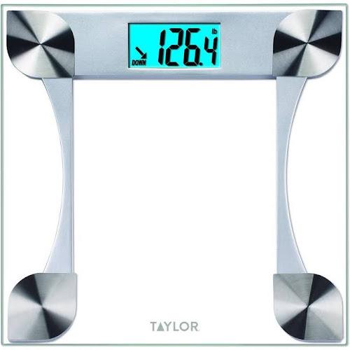 taylor 7595 digital glass bathroom scale with 2 user memory - Taylor Bathroom Scales