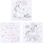 Trend Lab Magical Unicorn Canvas Wall Art 3 Pack