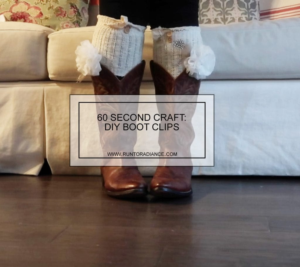 This 60 second craft is so easy and so cute! DIY boot clips are my new favorite thing!