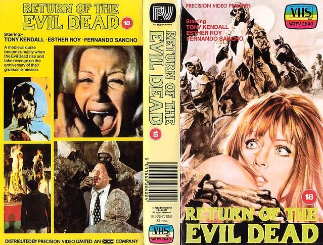 RETURN OF THE EVIL DEAD (VHS Box Art)