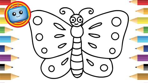 draw  butterfly  kids simple drawing game