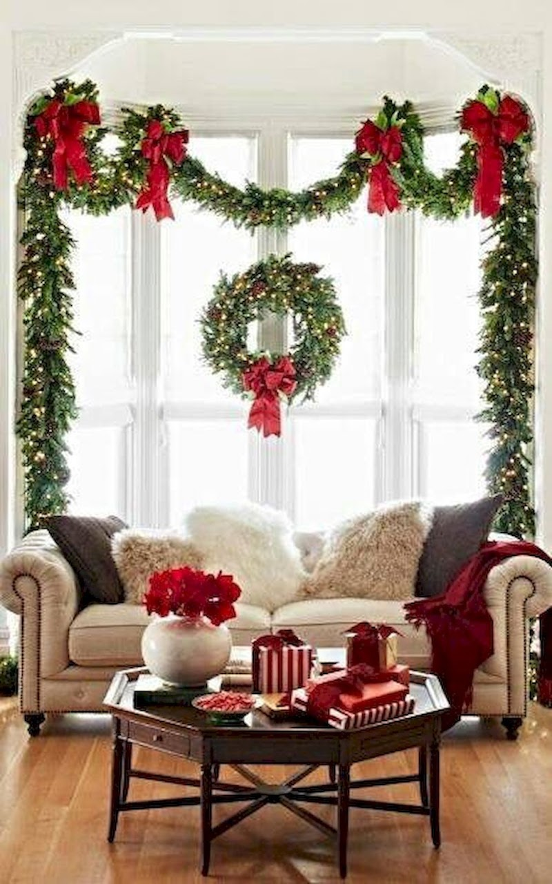 Ideas For Apartment Simple Christmas Living Room Decor images