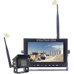 "Digital Wireless 2.4G 7"" Rear View Backup Camera Monitor RV Trailer Harvester"