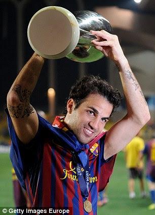 CESC FABREGAS: four trophies (all club with Barcelona) Copa del Rey: 2012 Supercopa de Espana: 2011 UEFA Super Cup: 2011 FIFA Club World Cup: 2011
