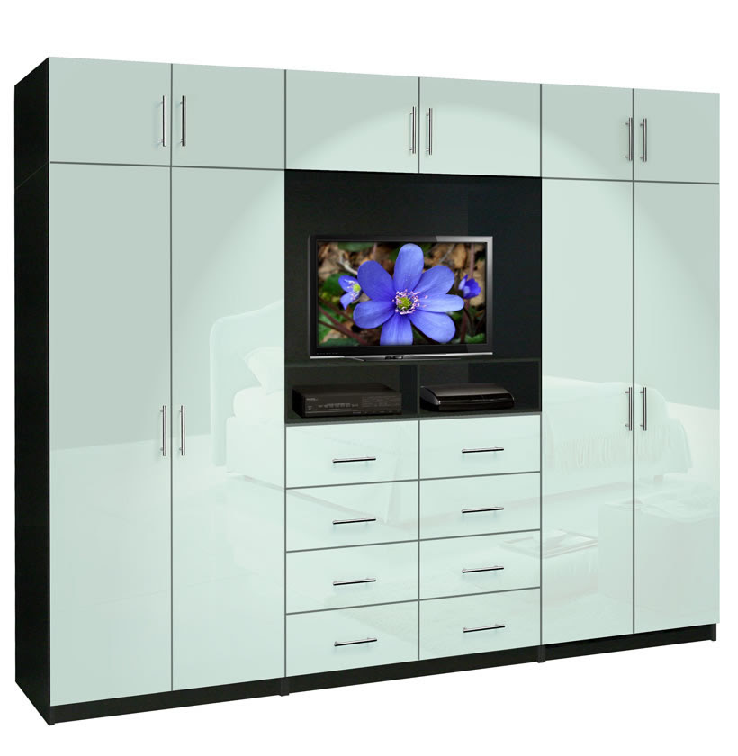 Aventa TV Wall Unit X-Tall - 10 Door Wall Unit for ...
