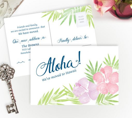 We've moved to Hawaii cards | Personalized Moving Cards