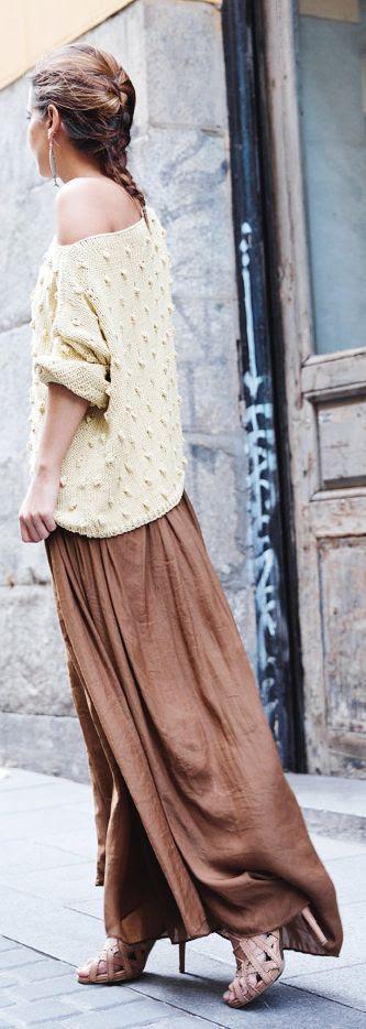 Jackolivia's Fashion Blog: Cream Beaded Loose One Shoulder Sweater