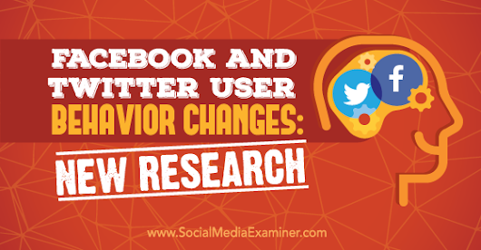 Facebook and Twitter User Behavior Changes: New Research