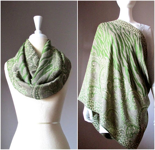 Nursing scarf breastfeeding cover green scarf cover for