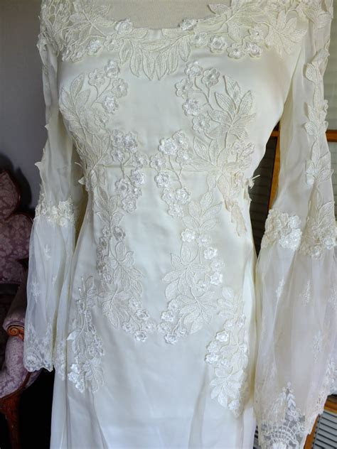 Vintage Wedding Dress 1970s Empire Boho By