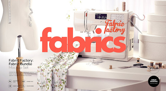 Fabrics Mockups Bundle for Adobe Photoshop