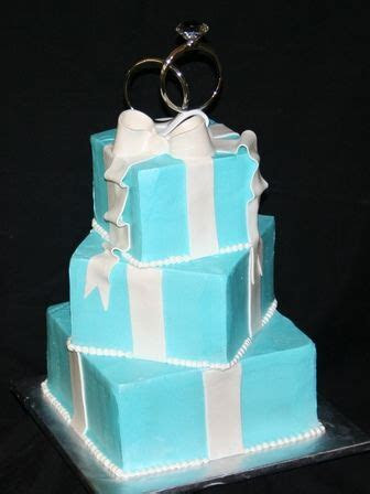 Tiffany Blue Wedding Cake   Tiffany blue, Tiffany and Blue
