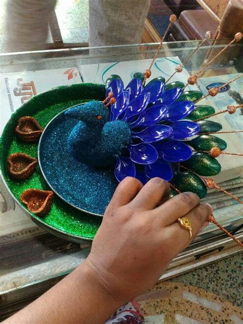 Aarti thali   Art and Craft   Thali decoration ideas