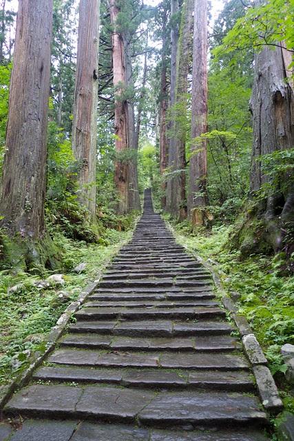stairs up Haguro-san