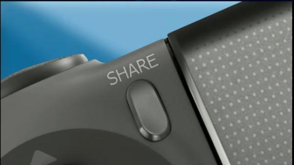 Botão share permitirá compartilhar suas experiências de jogo de forma prática e rápida (Foto: Divulgação)