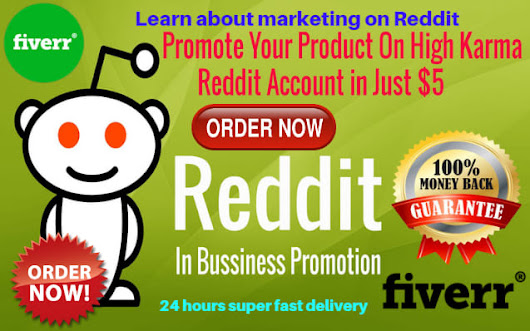 seo_city : I will promote your product on my high karma Reddit Accounts for $5 on www.fiverr.com