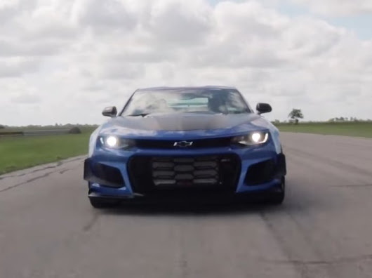 Listen to the a 1000-Horsepower Hennessey Camaro Z1 Roar | Torque News
