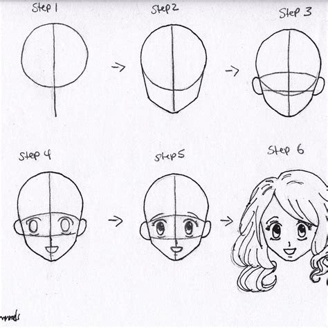 draw anime girl hair step  step  beginners