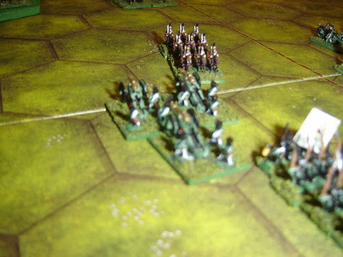 French Lancers repulsed by Russian battery