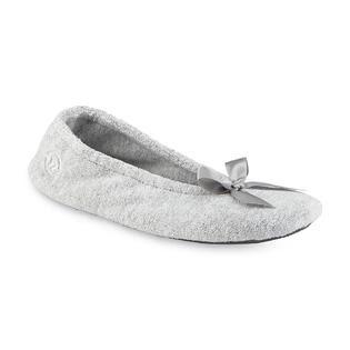 Isotoner Women's Gray Ballerina Slipper