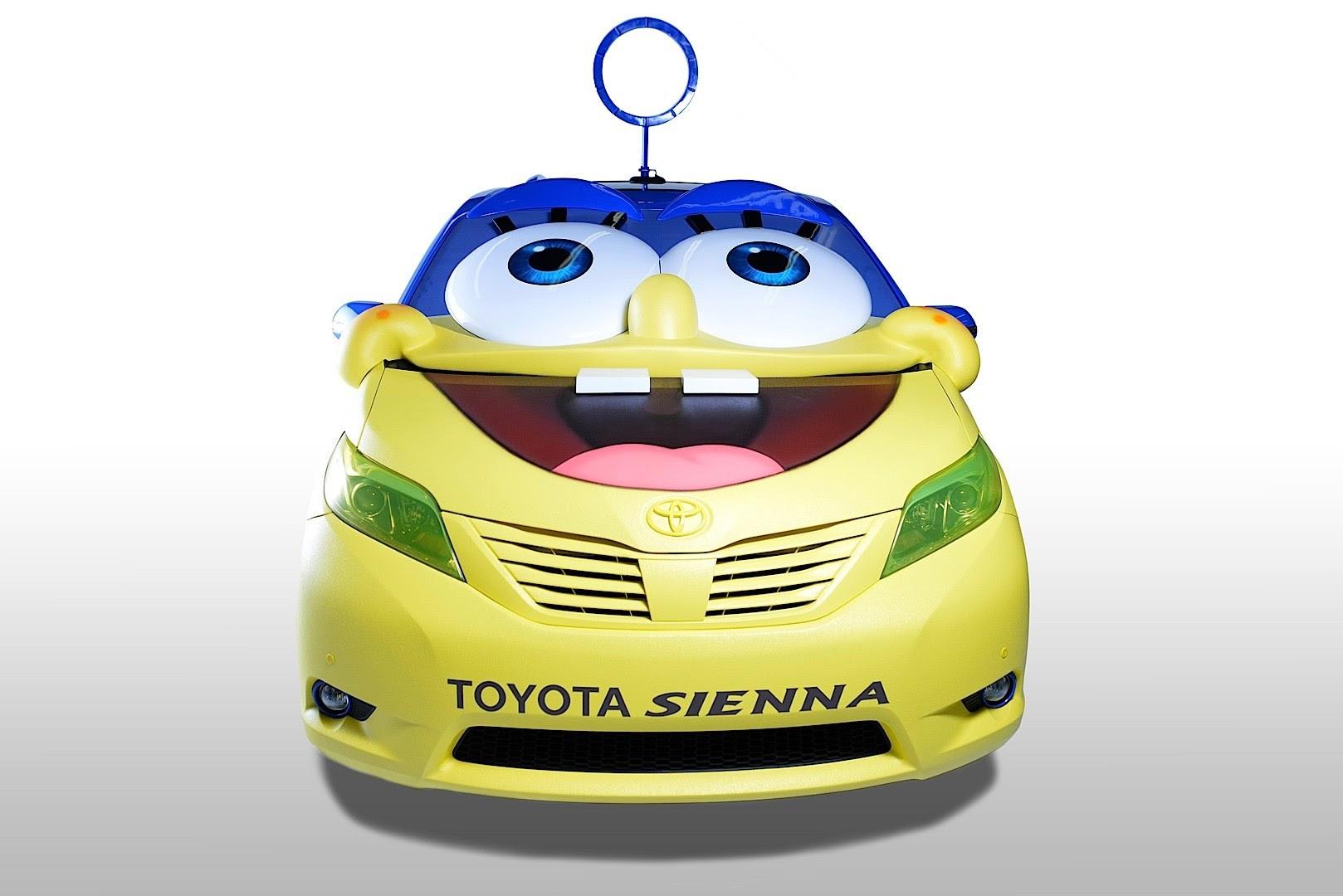 Modifikasi Kocak Toyota Ini Disulap Berwajah SpongeBob VIVA
