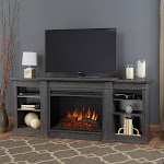 Real Flame Eliot Grand Entertainment Center Electric Fireplace, Antique Gray