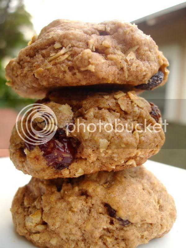 Oatmeal Raisin Cherry Spice Cookies