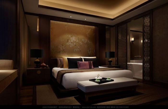 printed chinese silk headboard luxury bedding