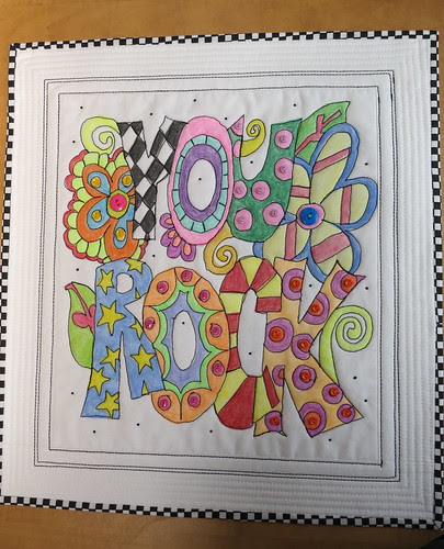"""""""You Rock"""" - The finished Quilt"""