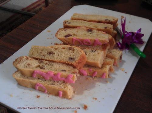 Eggless sponge cake slices 1