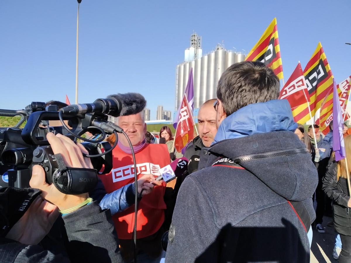 Declaraciones a la prensa del secretario general de CCOO de Catalunya