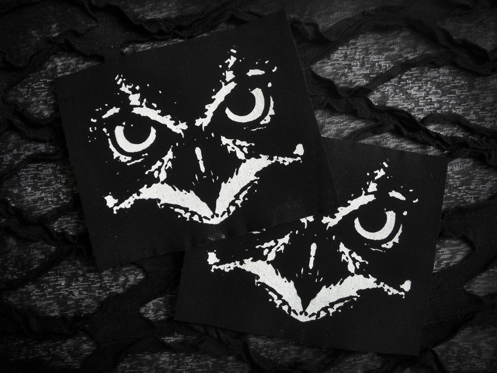 Owl Face Crust Punk Patch Black White Neoshiki Online Store