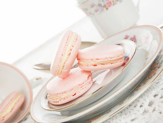 Pretty Pink Turkish Delight Thermomix Macarons