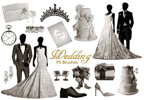 20 Wedding PS Brushes abr. vol.10   Free Photoshop Brushes