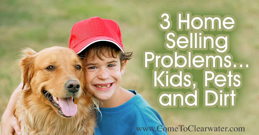 3 Home Selling Problems… Kids, Pets and Dirt