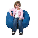 "Childrens Factory 26"" Kids Bean Bag Chair Flexible Seating Classroom Furniture Beanbag Ideal For Boy/girl Toddler Daycare Or Playroom Deep Water"