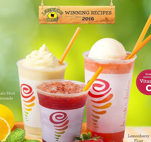 Jamba Juice Recipe Awards - Lemonade Alley