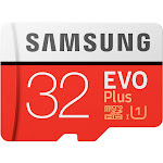 Samsung EVO Plus MB-MC32G MicroSDHC 32 GB Memory Card with MicroSDHC to SD Adapter - UHS-1