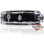 "Piccolo Snare Drum by Griffin - 13"" x 3.5"" Black Poplar Wood Shell Percussion"