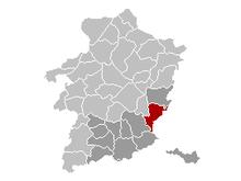 Vị trí của Lanaken in Limburg
