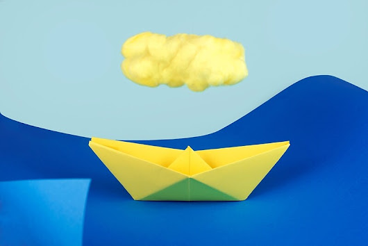 'The yellow cloud over the yellow ship'  by josemanuelerre
