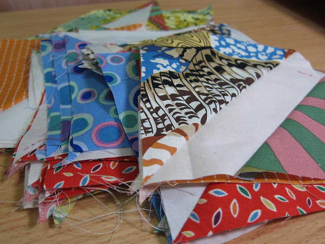 Modern quilt group HST wonkies