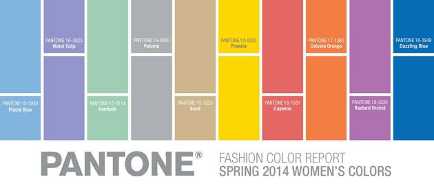 Pantone's Spring 2014 Trend Colors