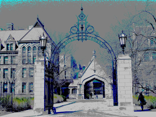 Hull Court Gate, Chicago (2013) Manipulated photograph (giclée) by Leon Sarantos