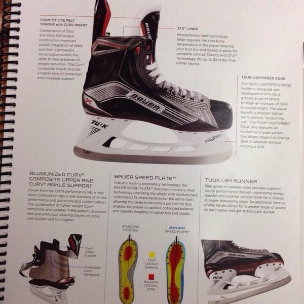 90ed50806e2 New Bauer Hockey Skates 2015