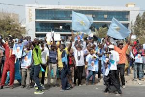 Members and supporters of PDS, Senegal's Democratic…